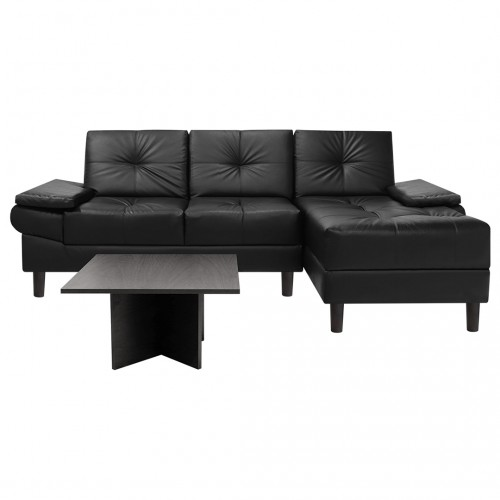 Combo Modular Michelle Chaise Longue Cuero Sintético + Coffee Table