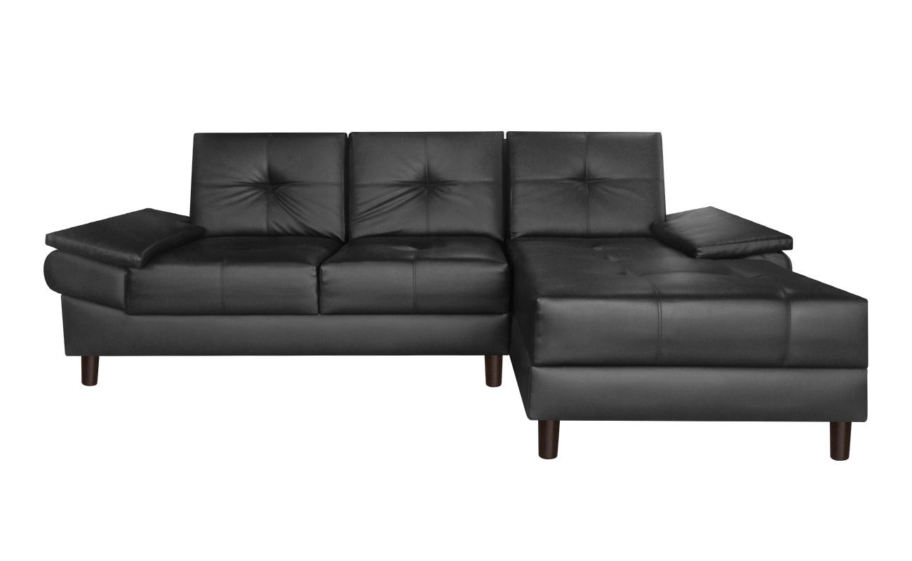 sala modular michelle chaise longue cuero sint tico